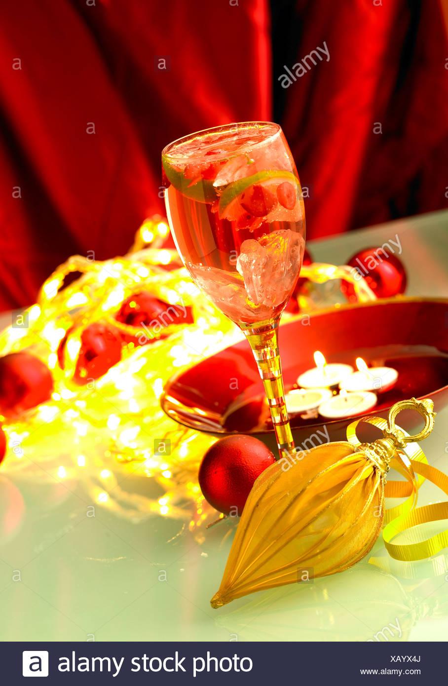 Christmas cocktail drink - Stock Image