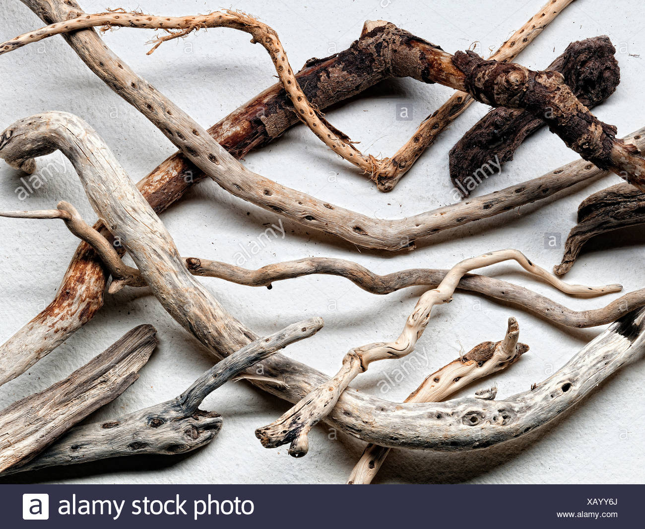 Pieces of driftwood - Stock Image