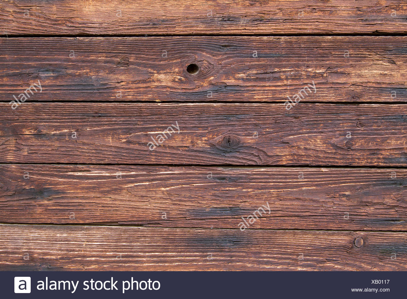 weathered wooden planks - Stock Image