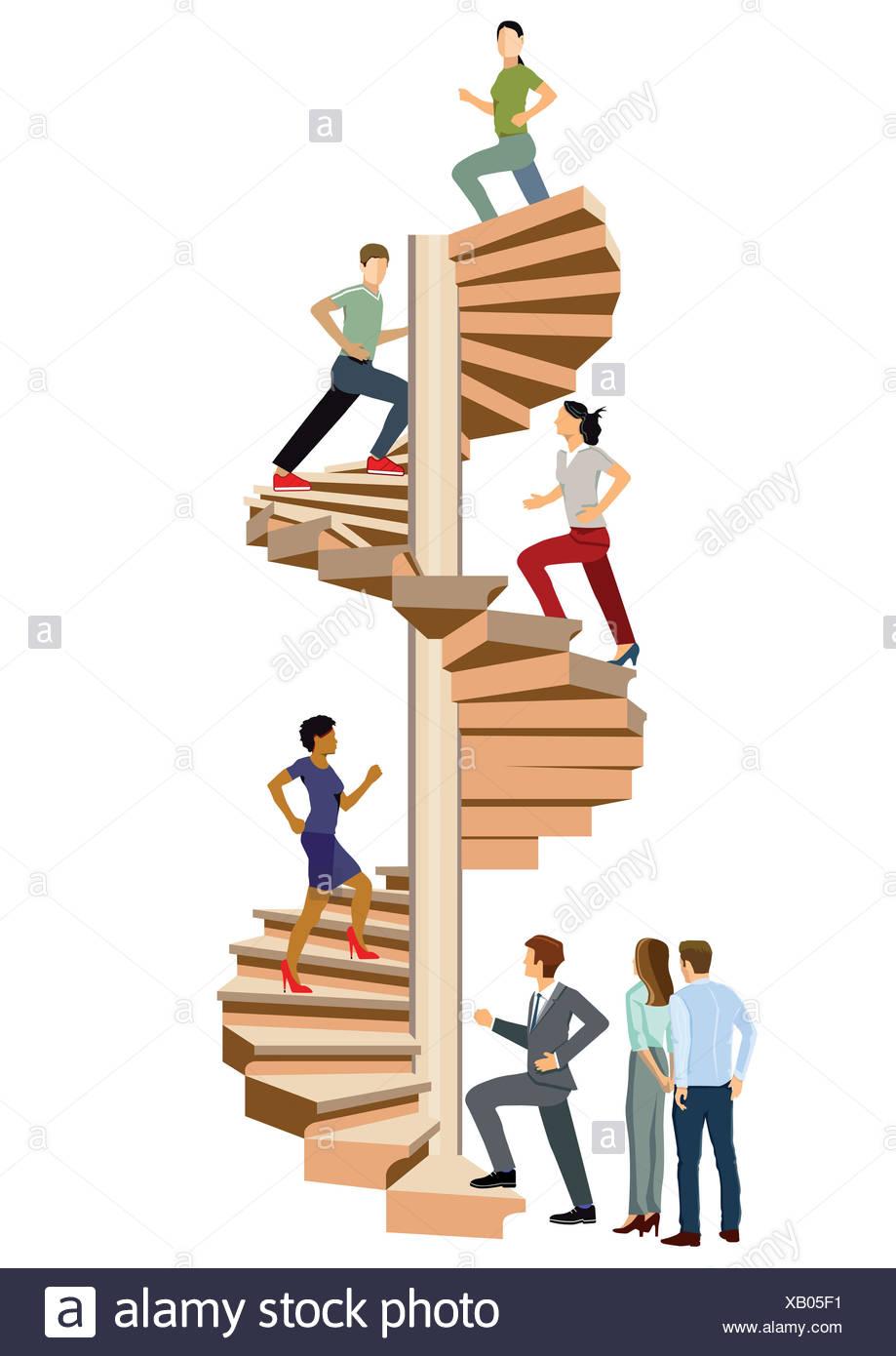 climb successfully Stock Photo