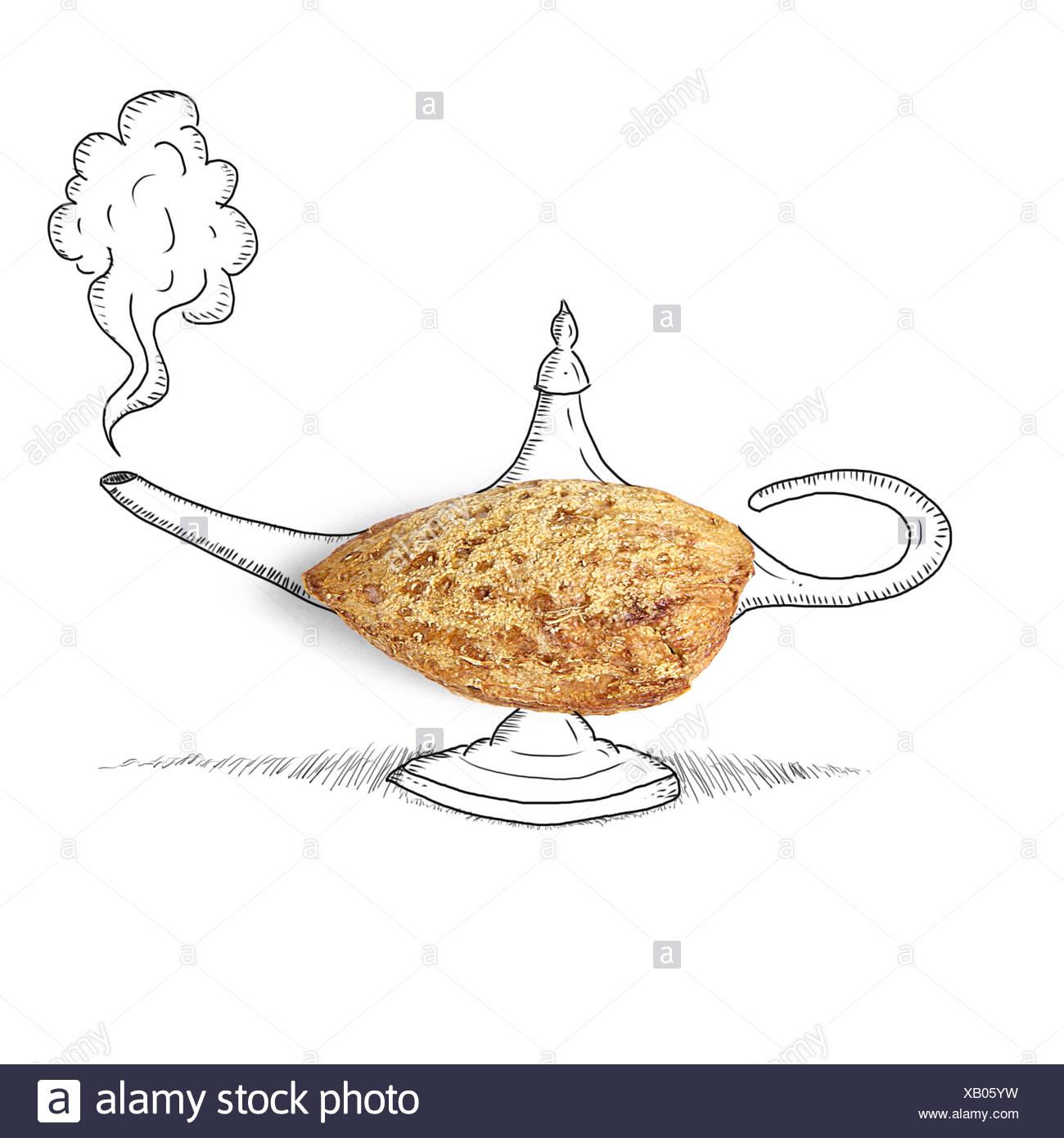 Conceptual Genie Lamp   Stock Image
