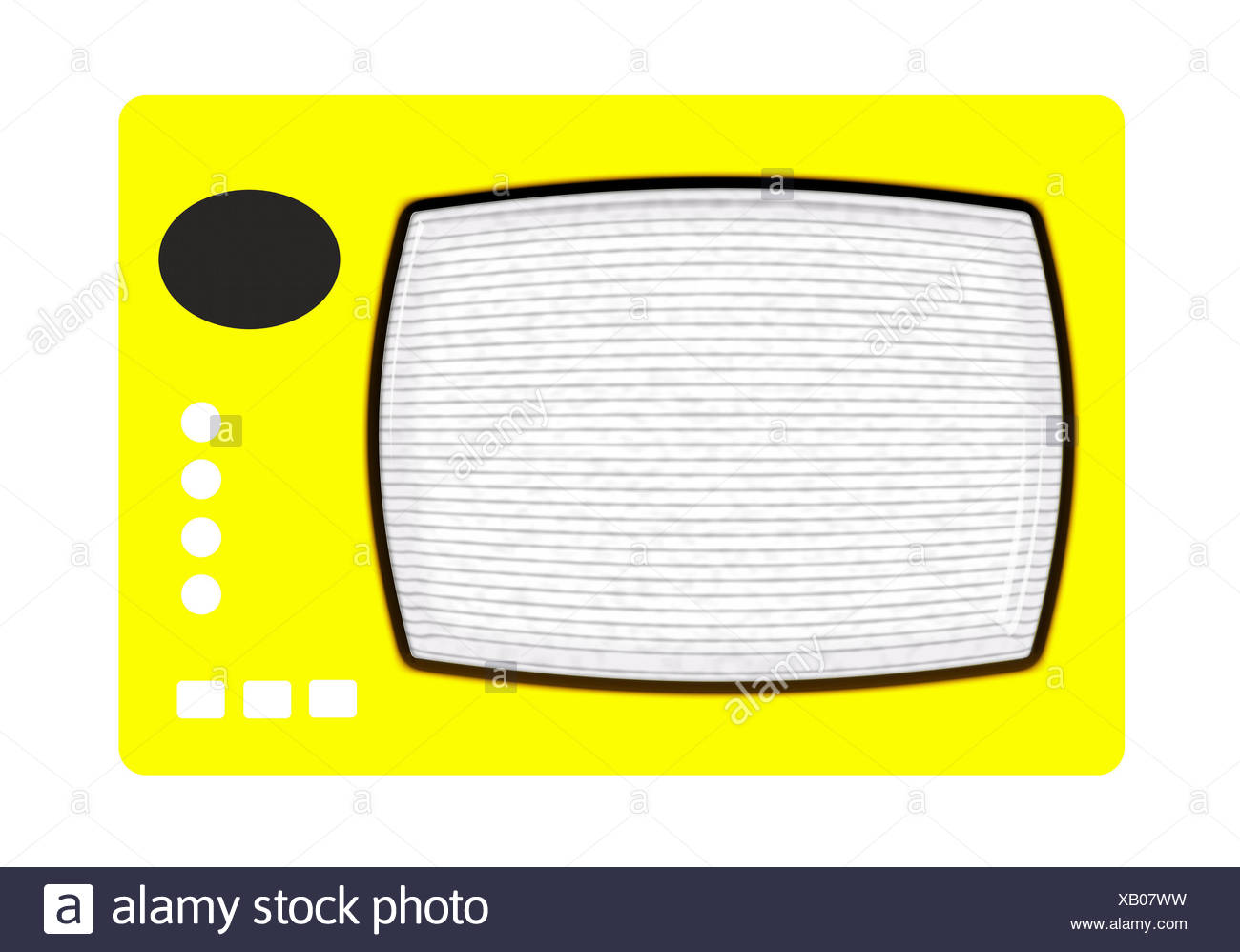 antenna, screen, digital, television, tv, televisions, picture tube, image - Stock Image