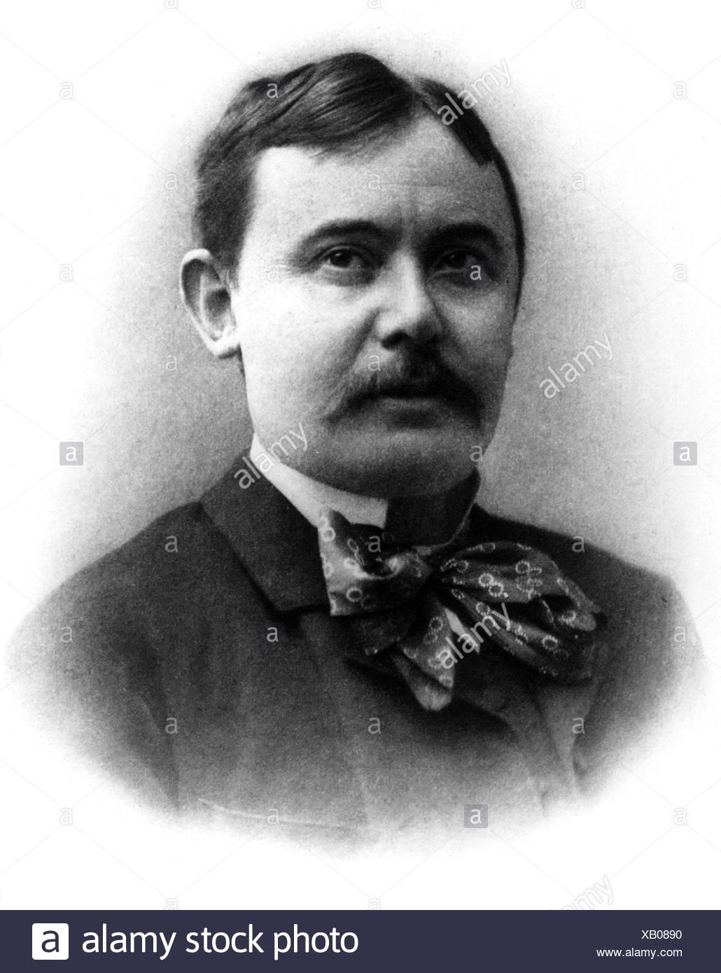Mikszath, Kalman, 16.1.1847 - 28.5.1910, Hungarian author / writer, portrait, photograph, 1904, Additional-Rights-Clearances-NA Stock Photo