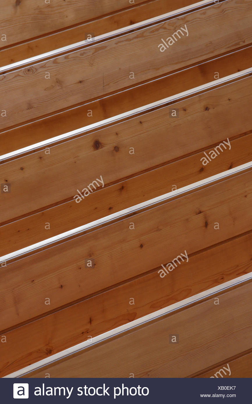 Pews of wood,Switzerland Stock Photo