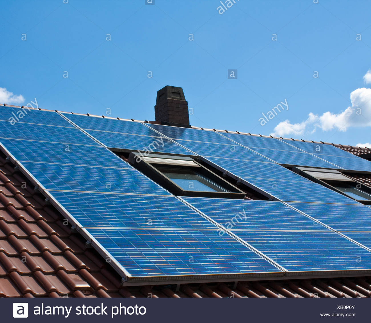 photovoltaic system - Stock Image