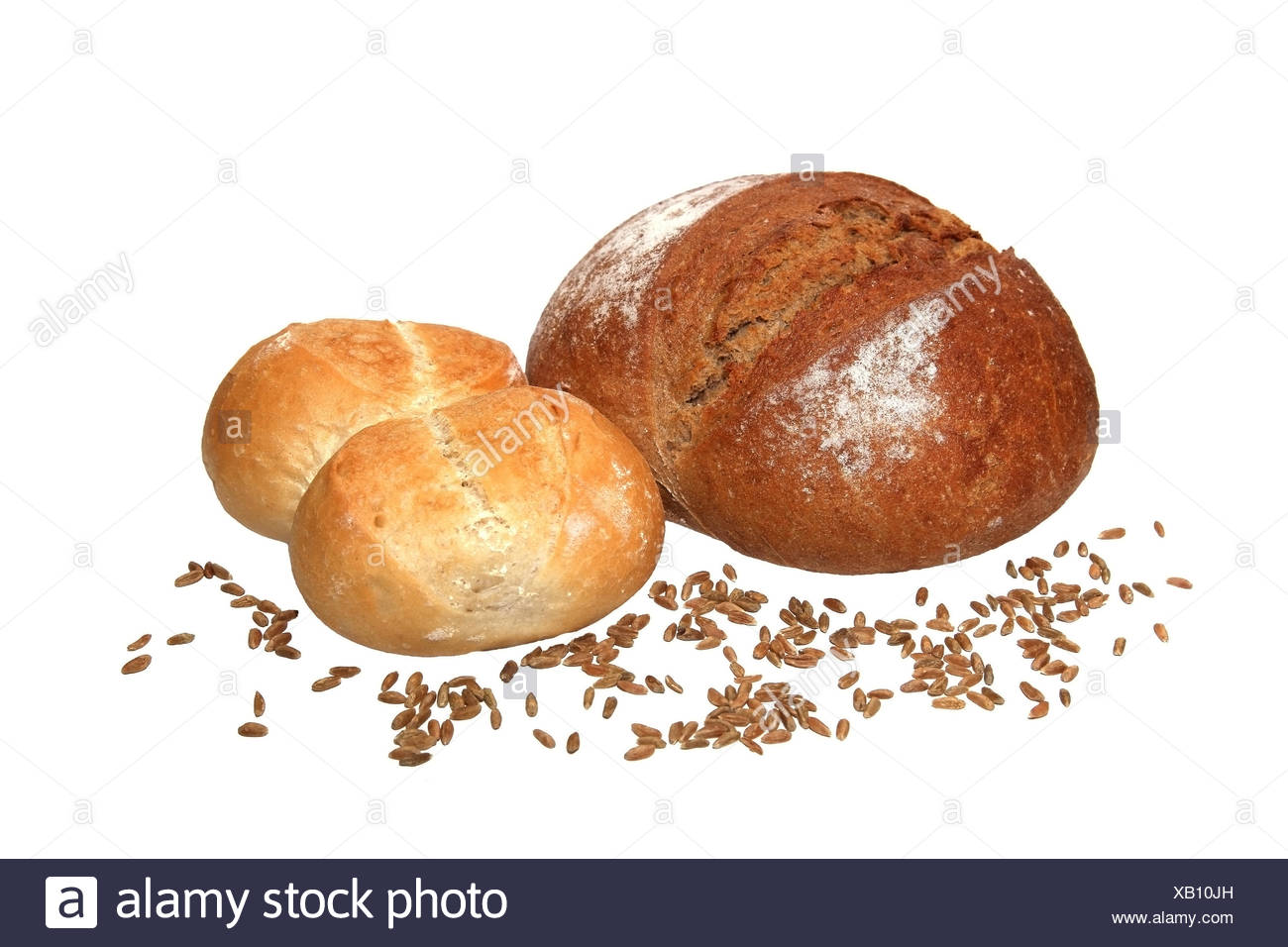 bakery products with cereal grains - Stock Image