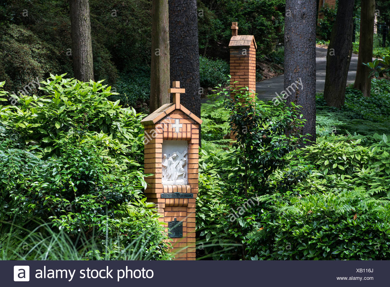 Stations of the Cross, Franciscan Monastery of the Holy Land in America, Washington DC, USA - Stock Image