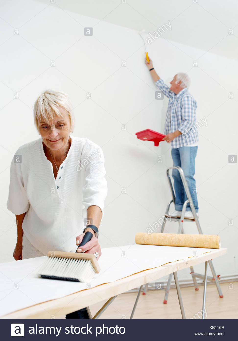 Flat Renovation Works Senior Couple Wallpaper Married Couples