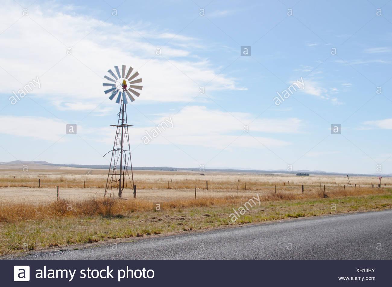 Australia, Central Victoria, Glengower, Wind turbine - Stock Image