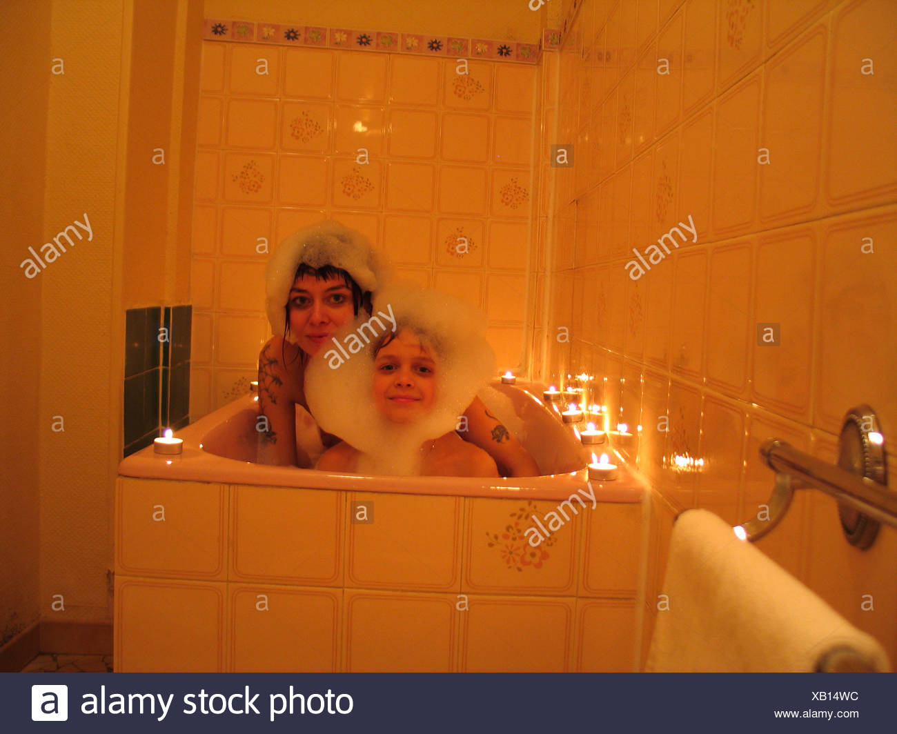 Mom And Son In Bathroom Com