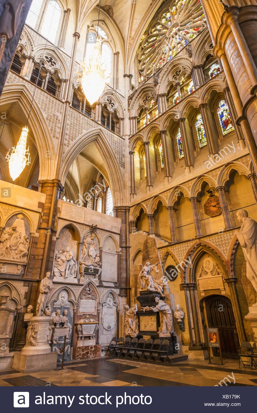 England, London, Westminster Abbey, Poets Corner - Stock Image