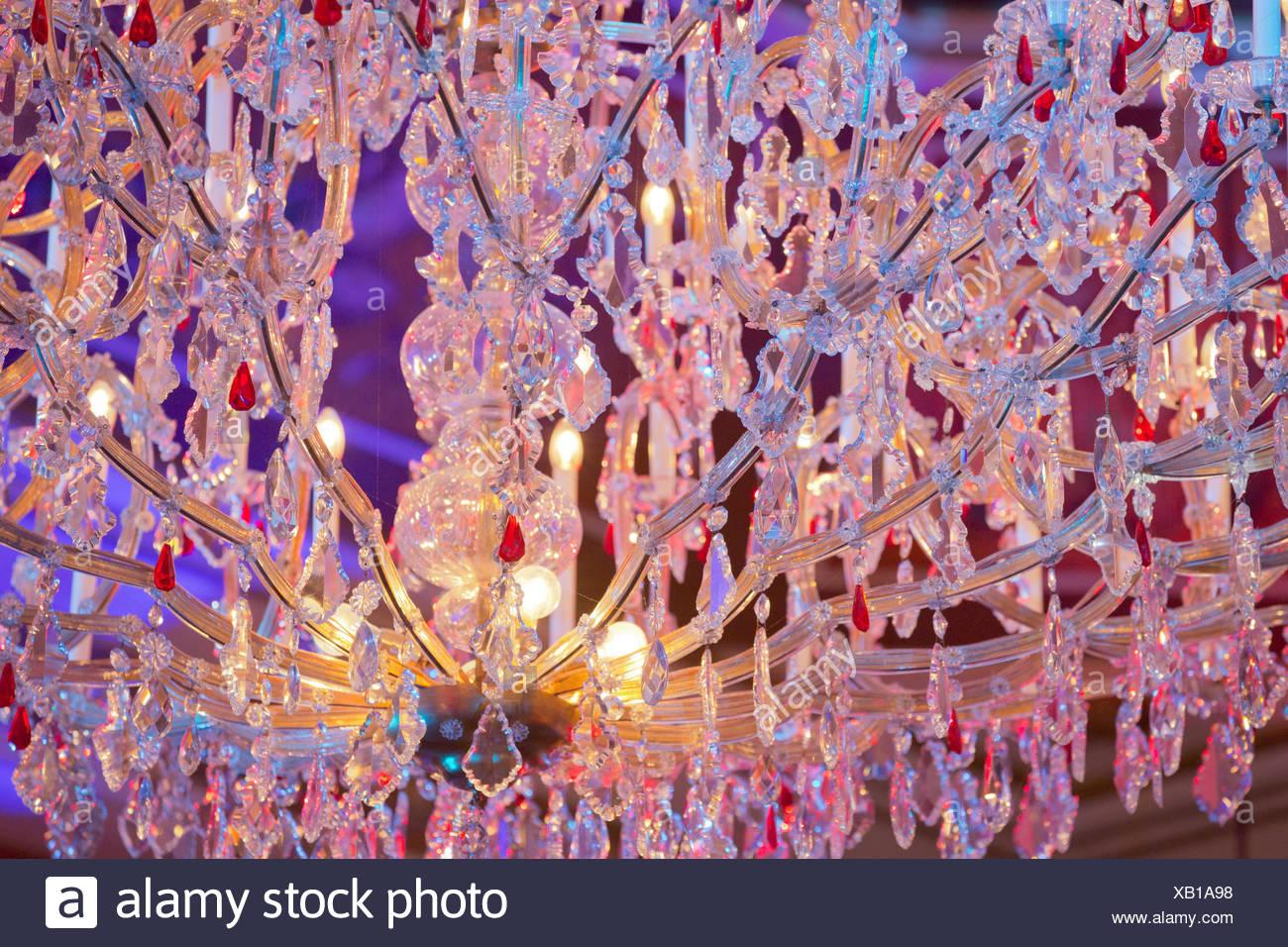 Crystal candlestick, Vienna, Austria - Stock Image