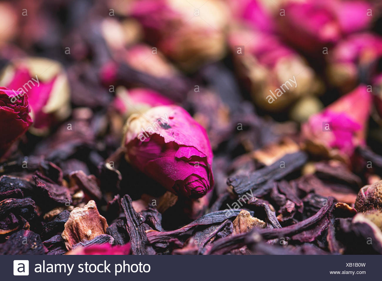 Heap of tea roses and dried hibiscus flower stock photo 282157705 heap of tea roses and dried hibiscus flower izmirmasajfo Images
