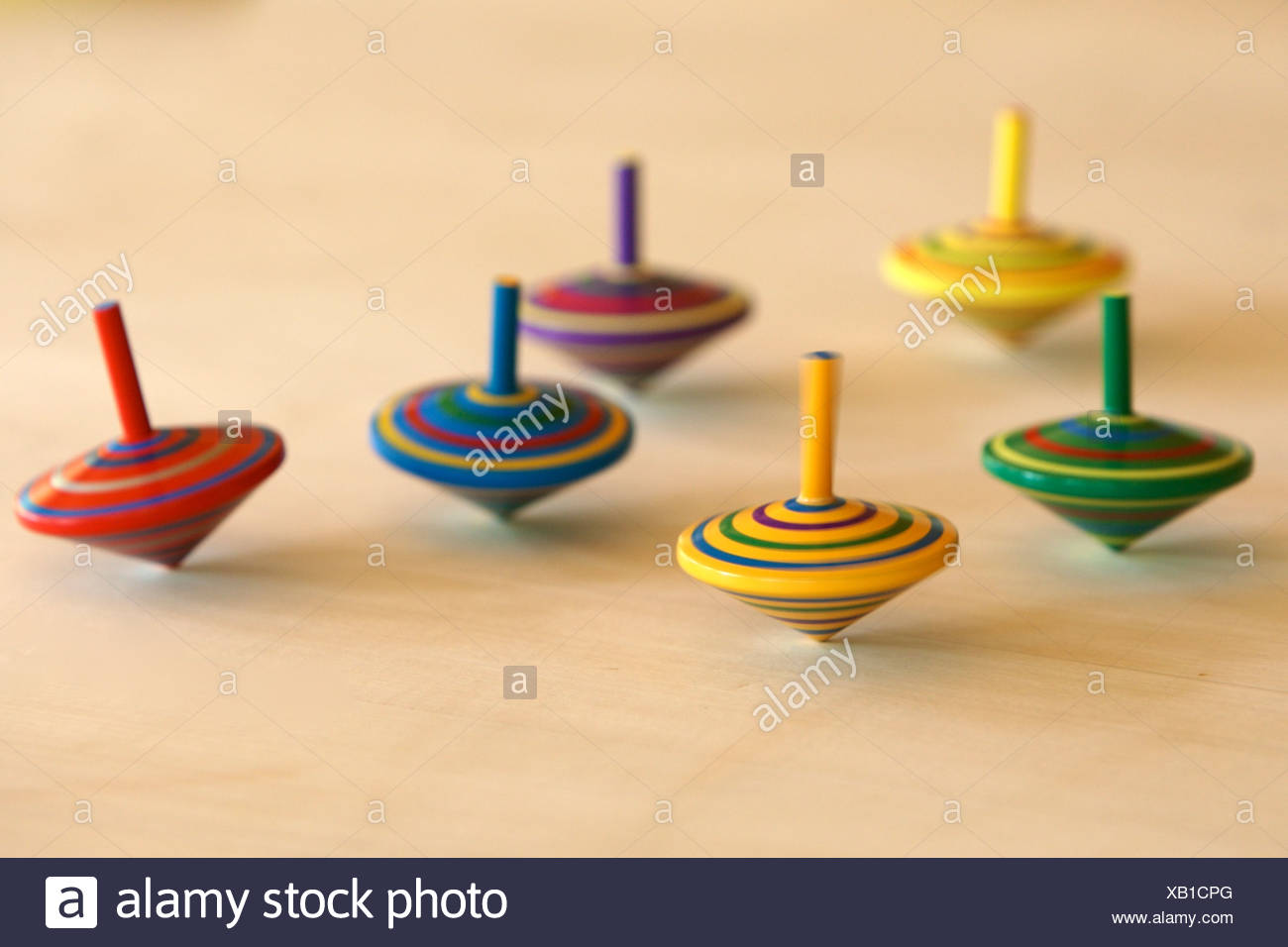 Colourful spinning tops Stock Photo: 282159096 - Alamy
