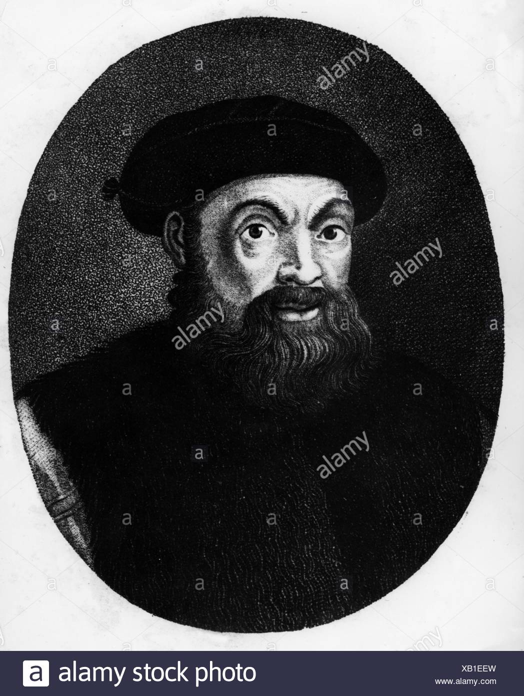 Magellaan, Ferdinand (Magalhaes, Fernao de), 1480 - 27.4.1521, Portuguese navigator and explorer, portrait, Additional-Rights-Clearances-NA - Stock Image