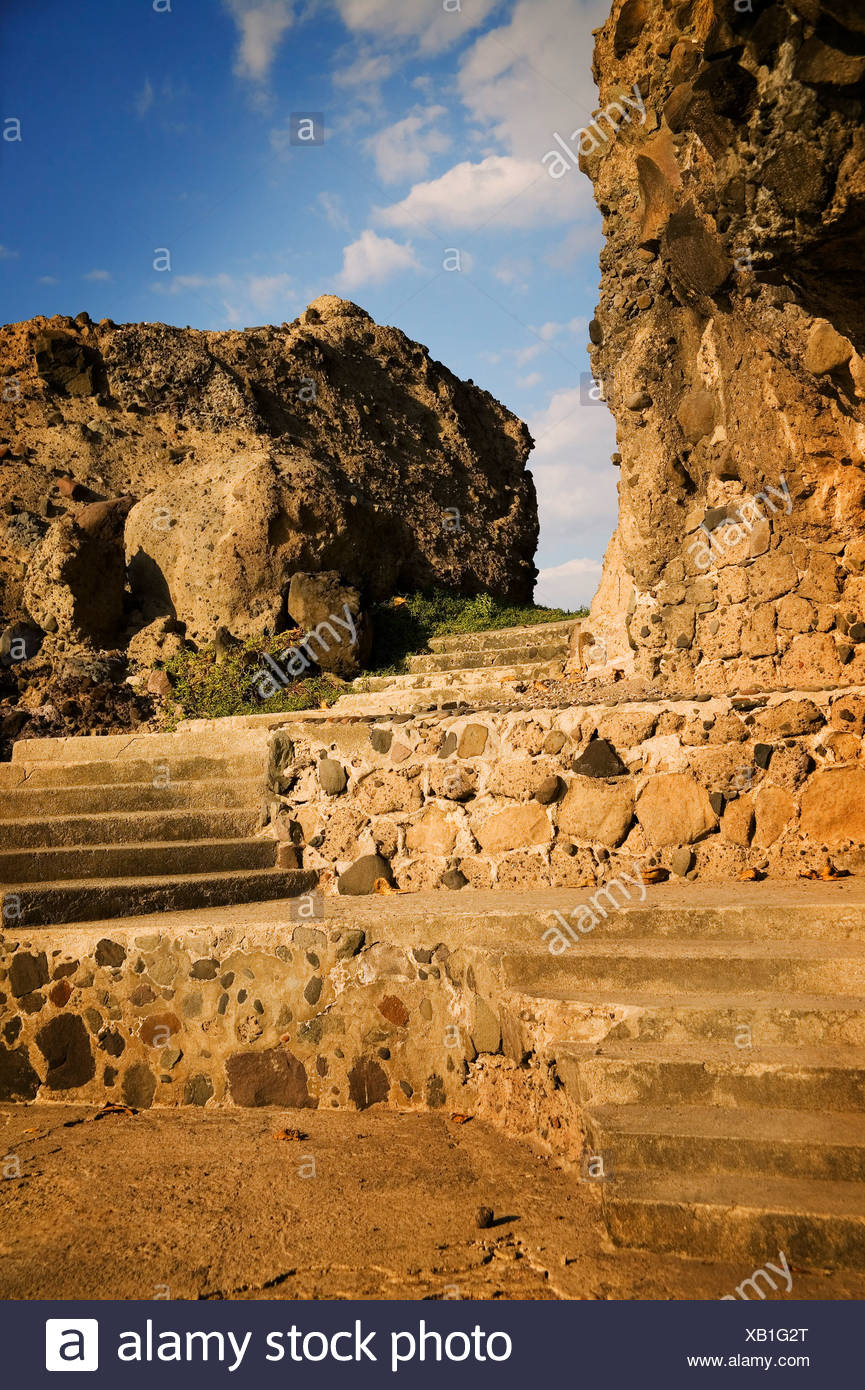 Levels of stone and stairs - Stock Image