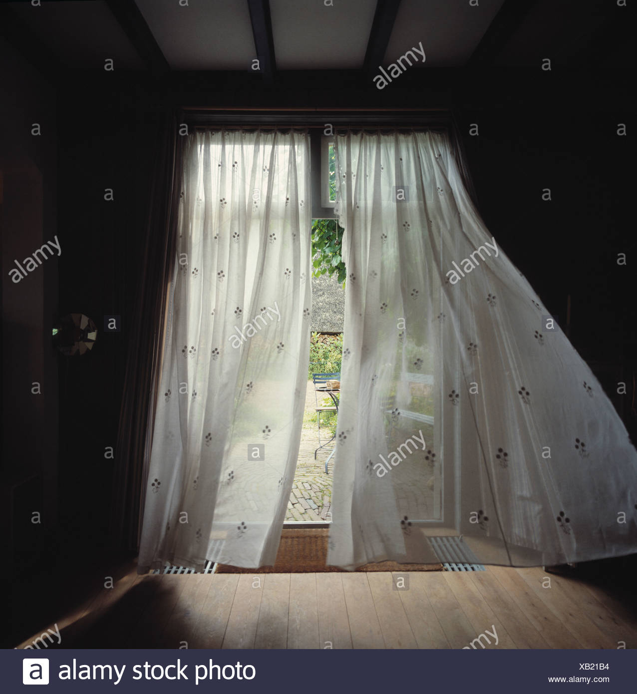 Window Curtains Blowing Stock Photos  for Window With Curtains Blowing  61obs