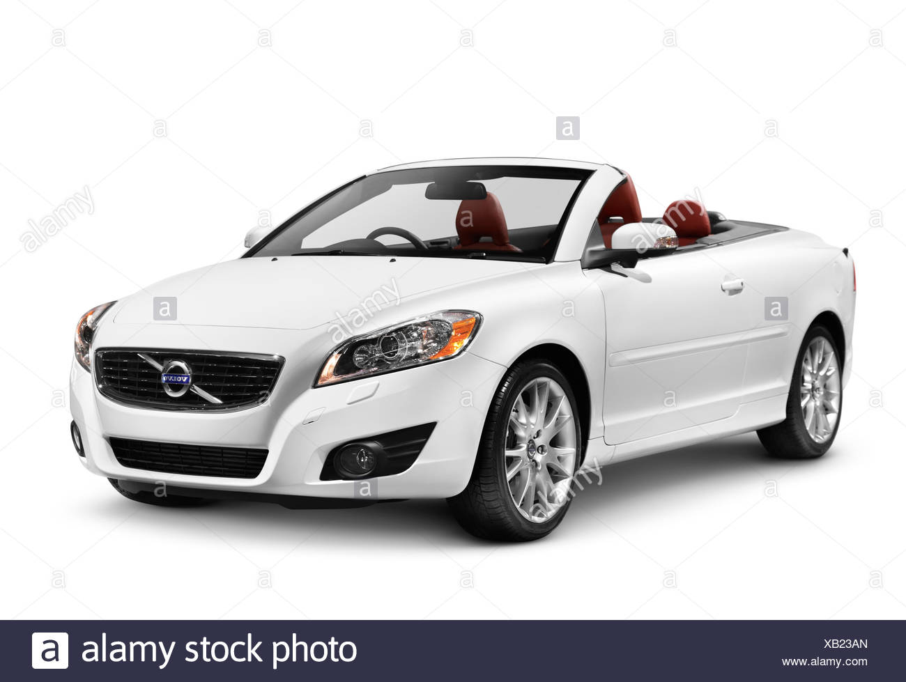 White 2011 Volvo C70 Coupe Convertible car - Stock Image