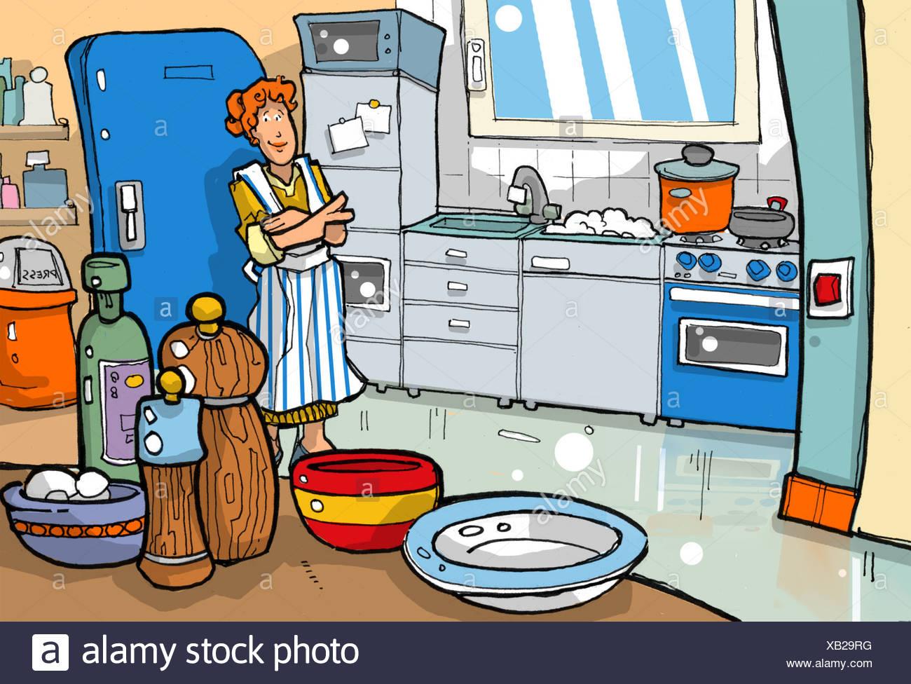 Kitchen Chaos Woman Stock Photos & Kitchen Chaos Woman Stock Images ...