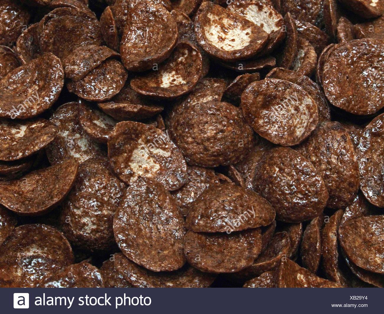chocolate flakes Stock Photo