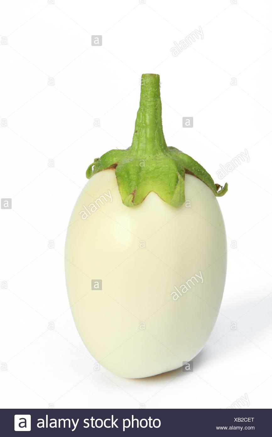 White eggplant (Solanum melongena) Stock Photo