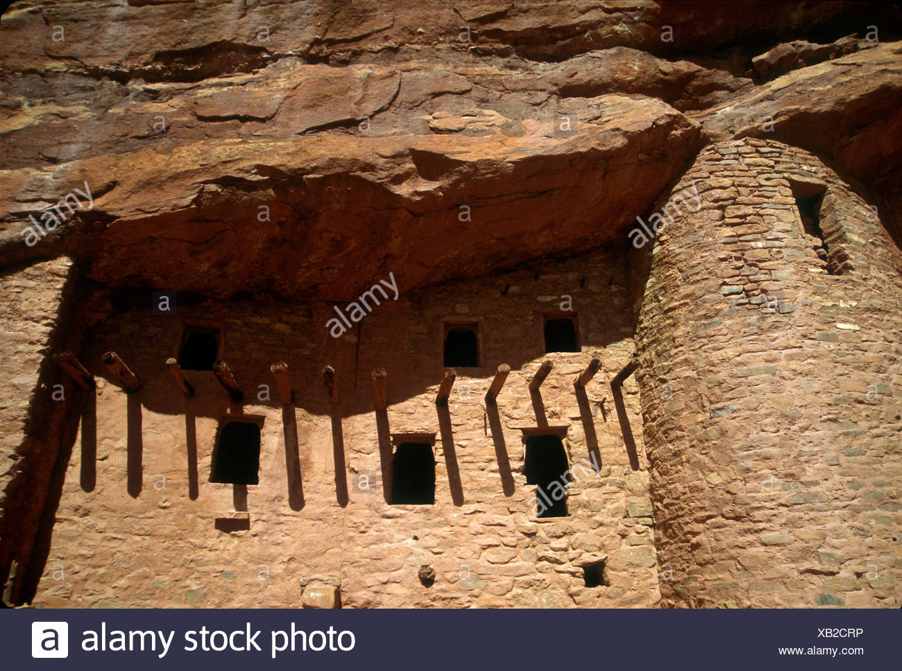 Manitou Cliff Dwellings of the Anasazi native American Indian tribe, Manitou Springs, Colorado - Stock Image