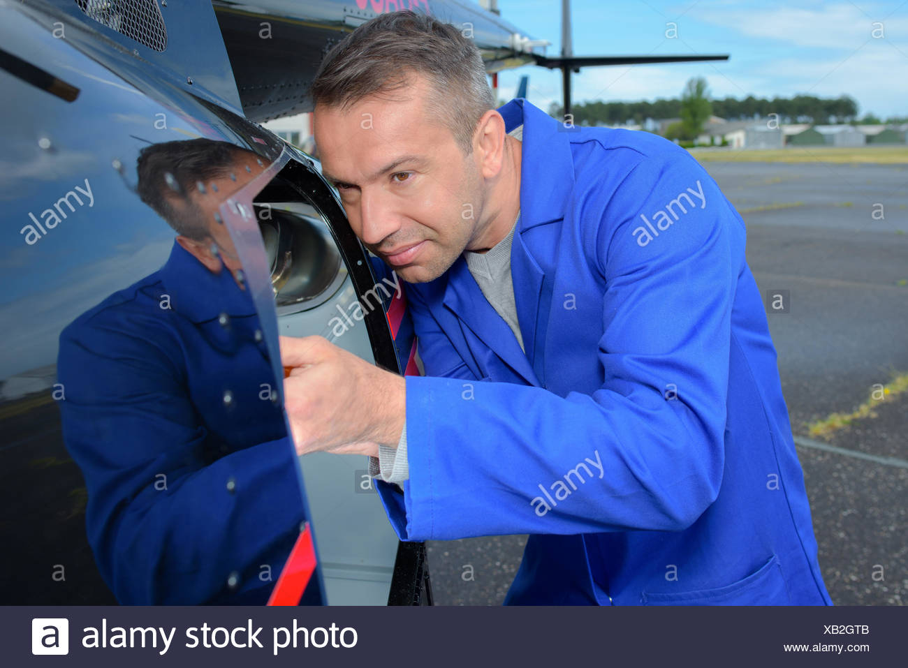 aviation engineer - Stock Image
