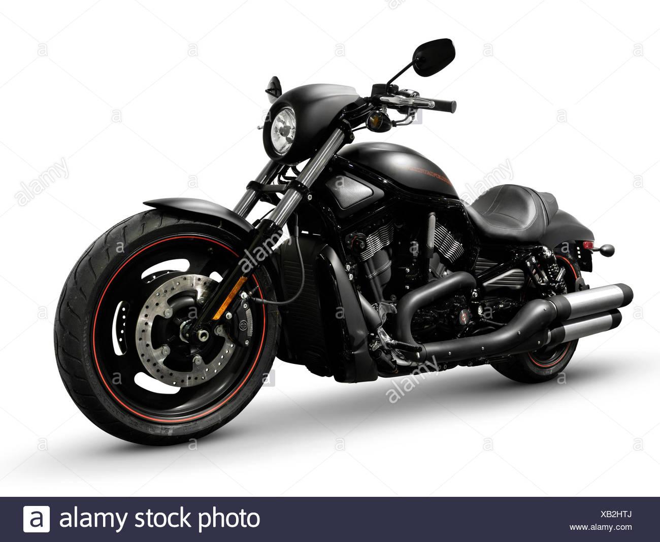 Black 2007 Harley Davidson Vrscd Night Rod Special Motorcycle Isolated On White Background Stock Photo Alamy
