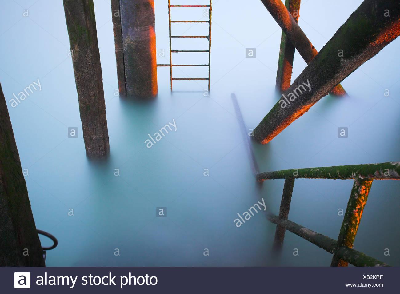 Lifeboat Pier at Calshot, Hampshire, UK Stock Photo
