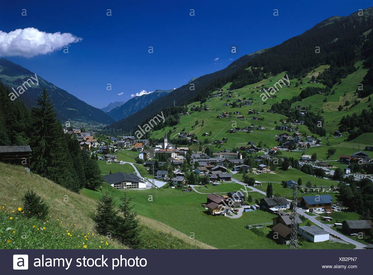 Austria Vorarlberg Montafon Gaschurn Local View Summer Europe