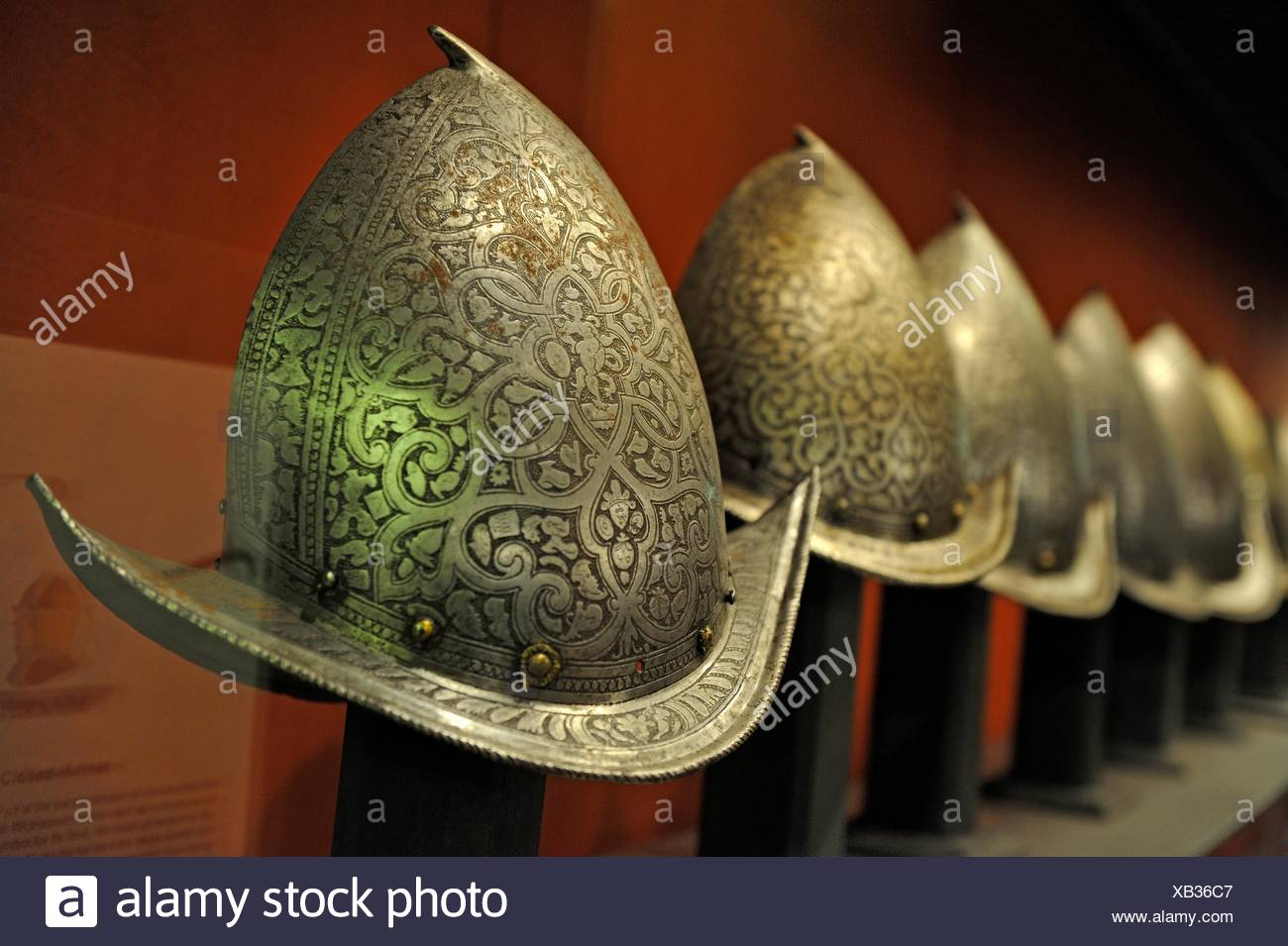 Palace Armoury, arms collection housed at the Grandmaster´s Palace, Valletta, Malta, Southern Europe. - Stock Image