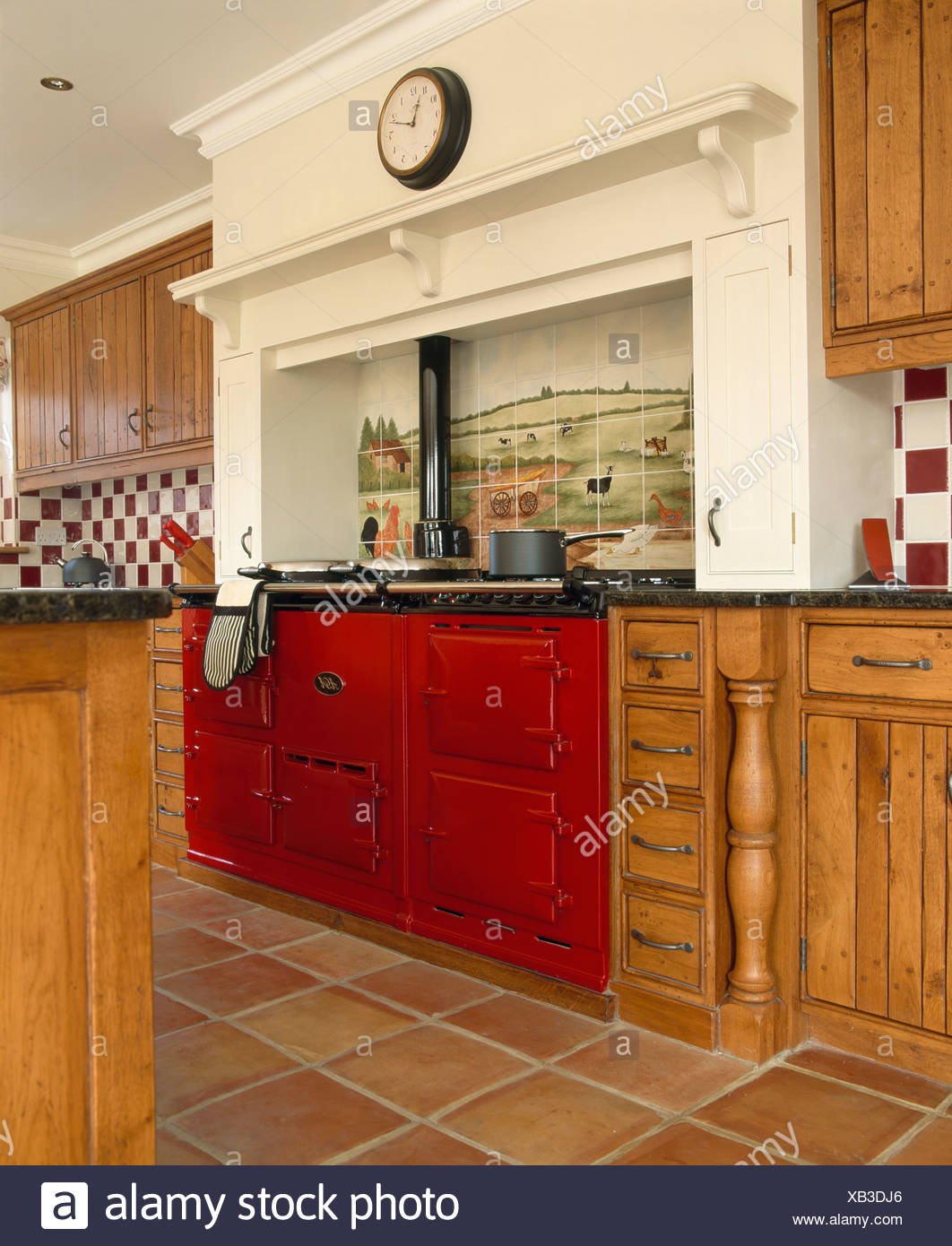 Red Aga Oven High Resolution Stock Photography And Images Alamy