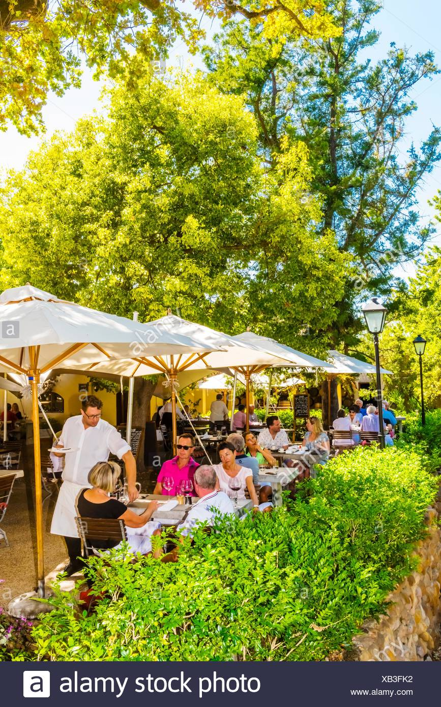 Terroir Restaurant, Kleine Zalze Wines, Stellenbosch, Cape Winelands, South Africa. - Stock Image