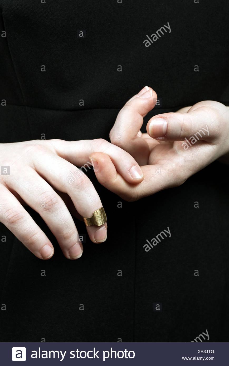 Fingers touching Stock Photo