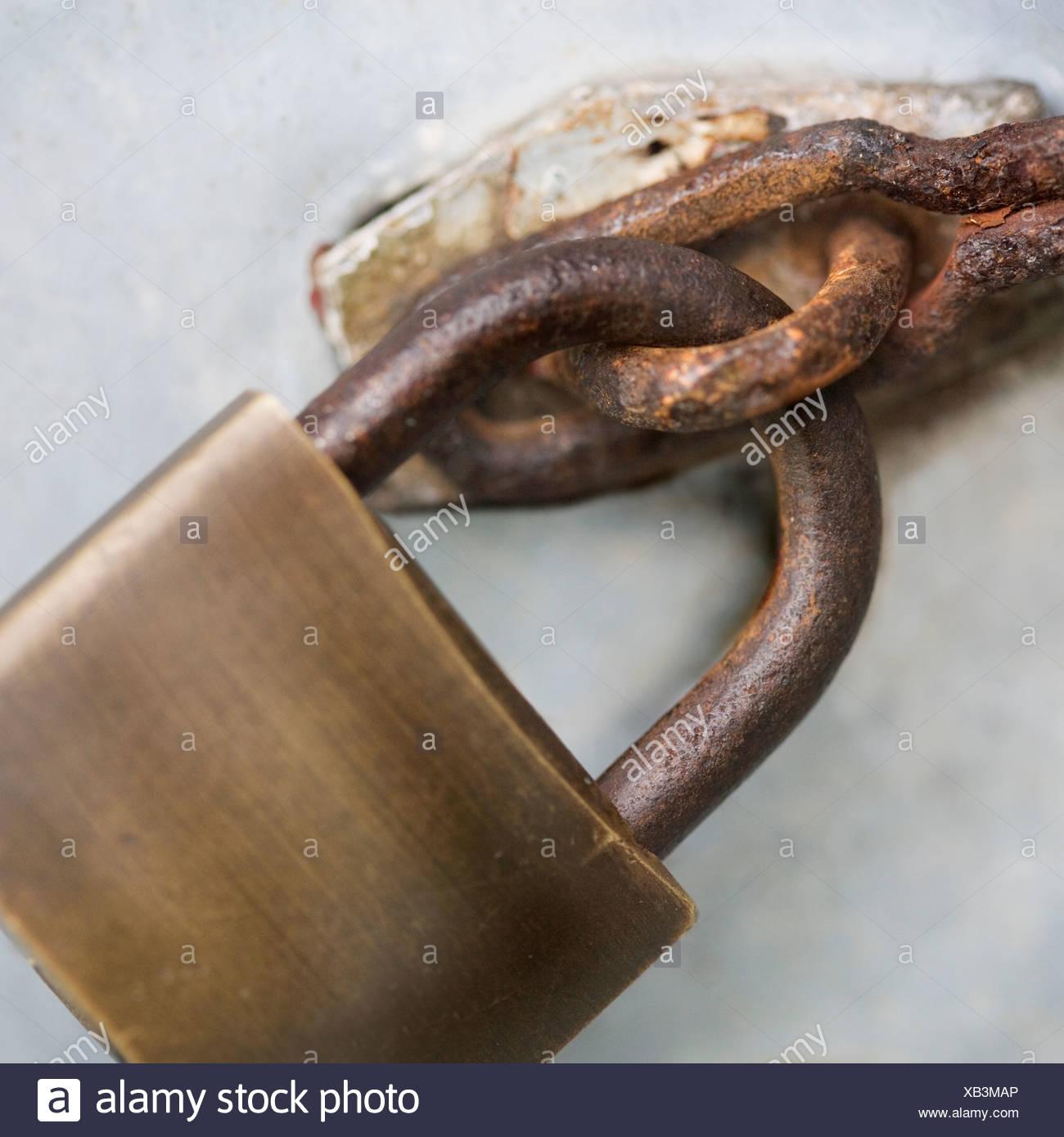 Close up of padlock - Stock Image