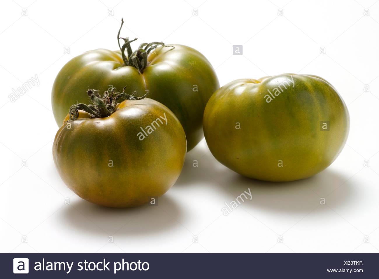 Tomato varieties: Evergreen - Stock Image