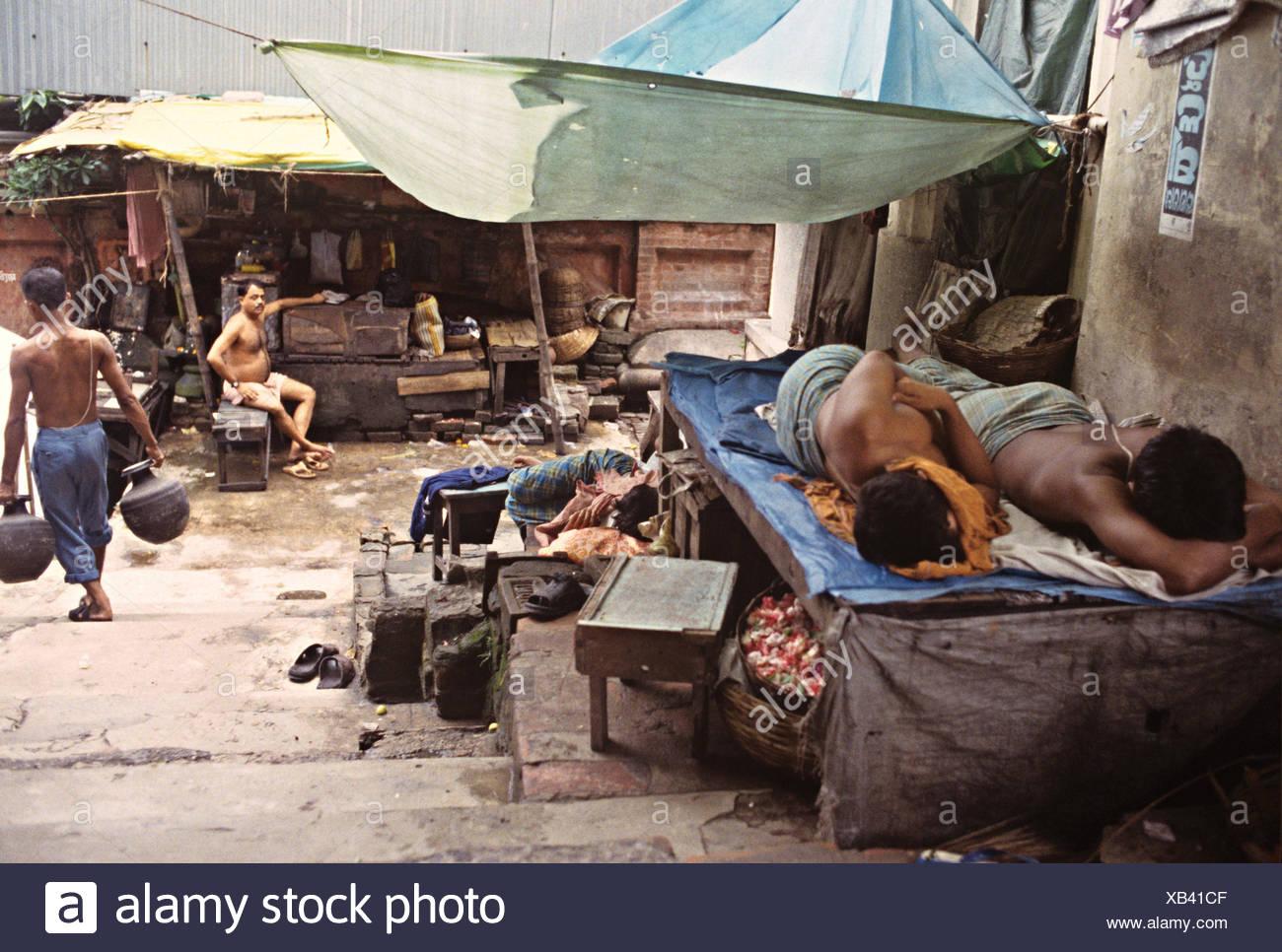 Pavement dwellers - Stock Image