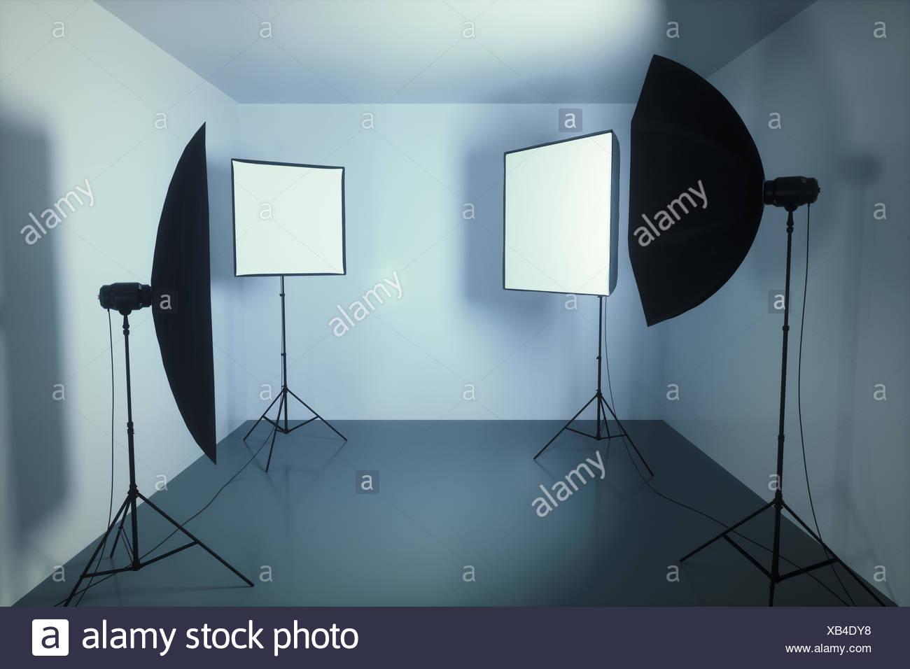 Photography studio, illustration. - Stock Image