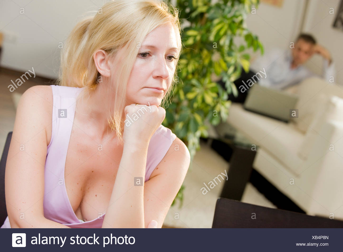 Symbolic image for crisis in a relationship Stock Photo