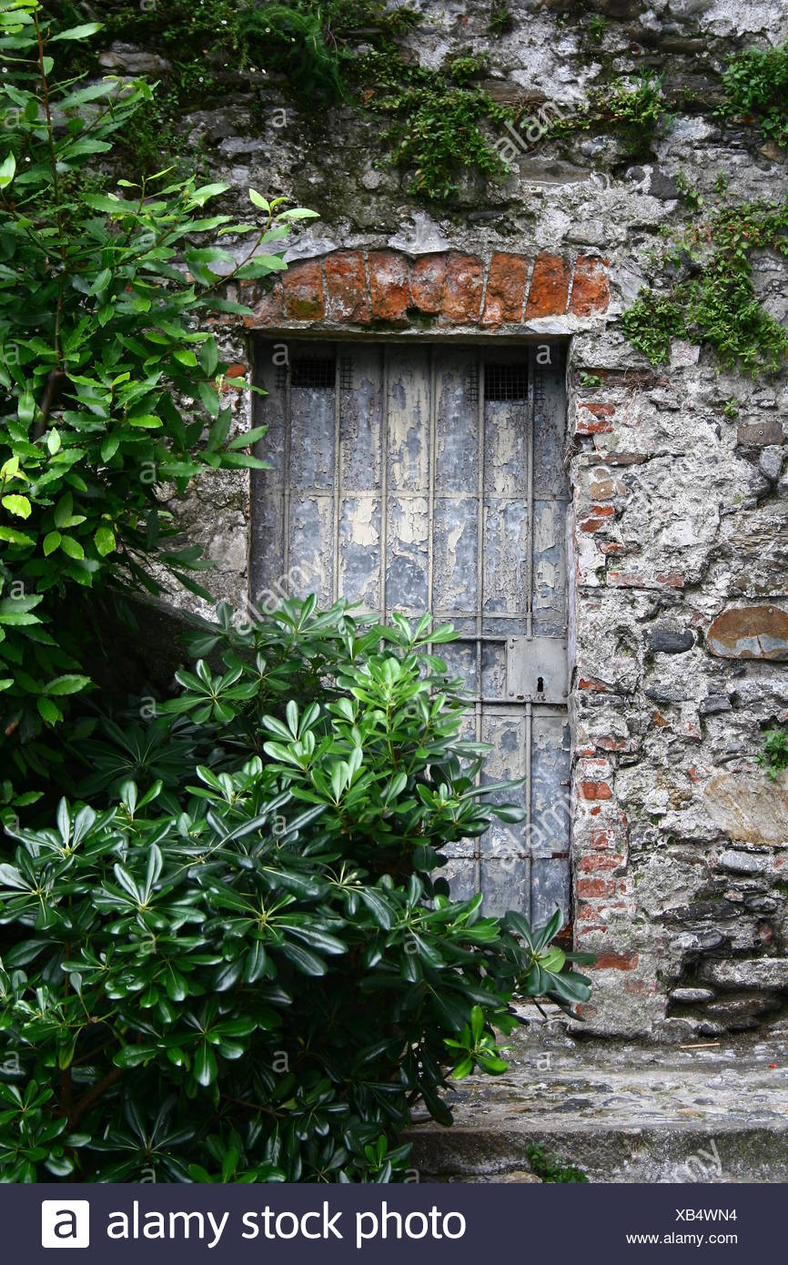 stone door wall closed metal ruins coalesce forget lacquer portrait