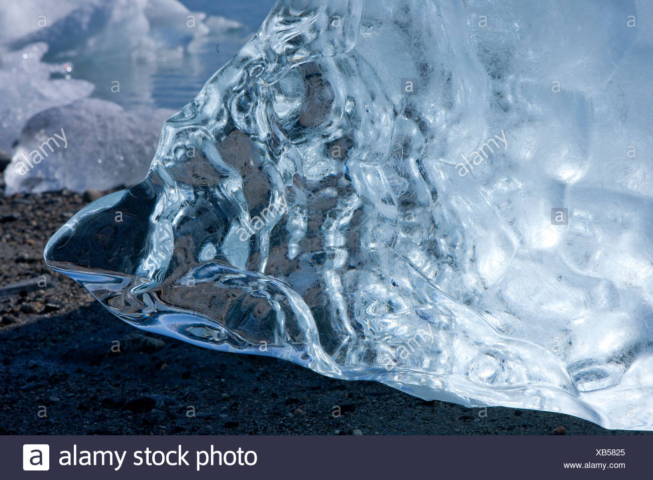 Ice, Greenland, East Greenland, glacier, ice, moraine, structure, concepts, - Stock Image