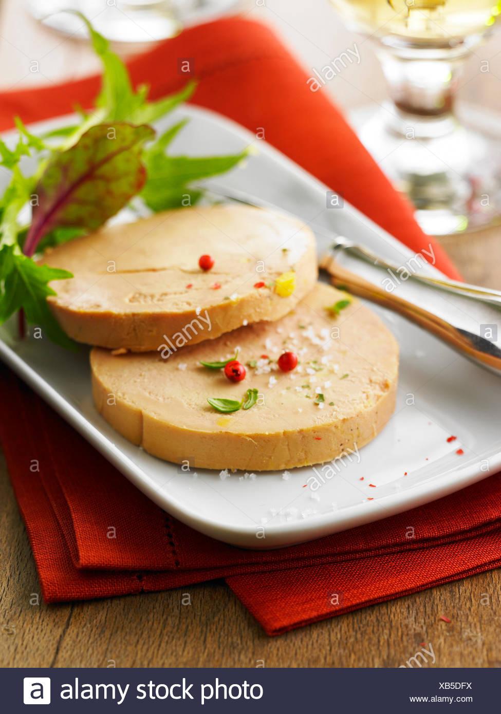 Slices of foie gras - Stock Image