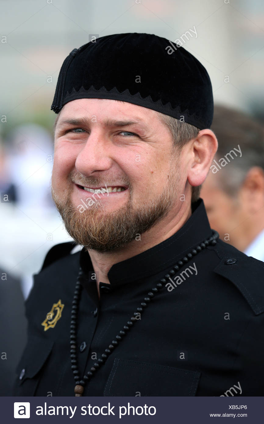 Dubai, United Arab Emirates, Achmatowitsch Ramzan Kadyrov, President of the Chechen Republic - Stock Image