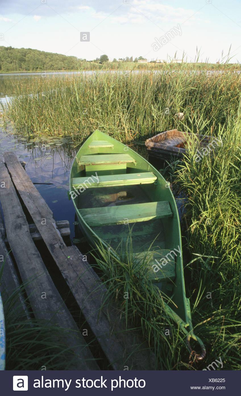 Boat in Saldus. Letonia - Stock Image