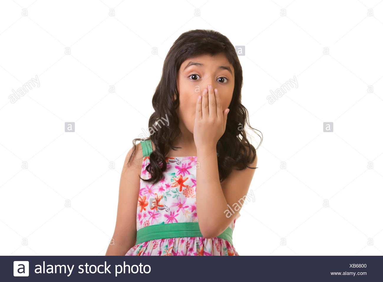 Girl showing shock - Stock Image