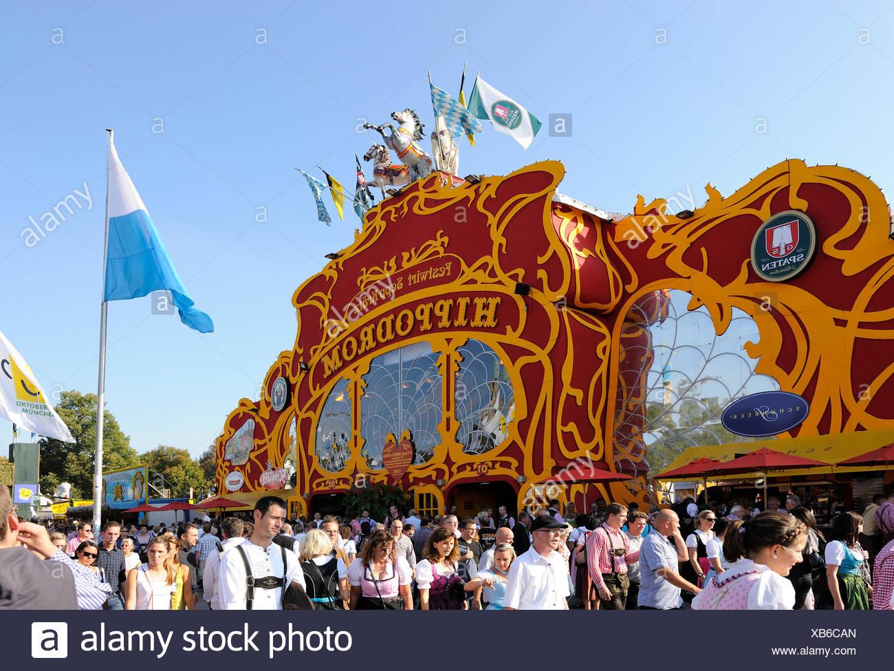 Hippodrome, Spatenbrauerei, Spaten brewery beer hall, Oktoberfest, Munich, Bavaria - Stock Image