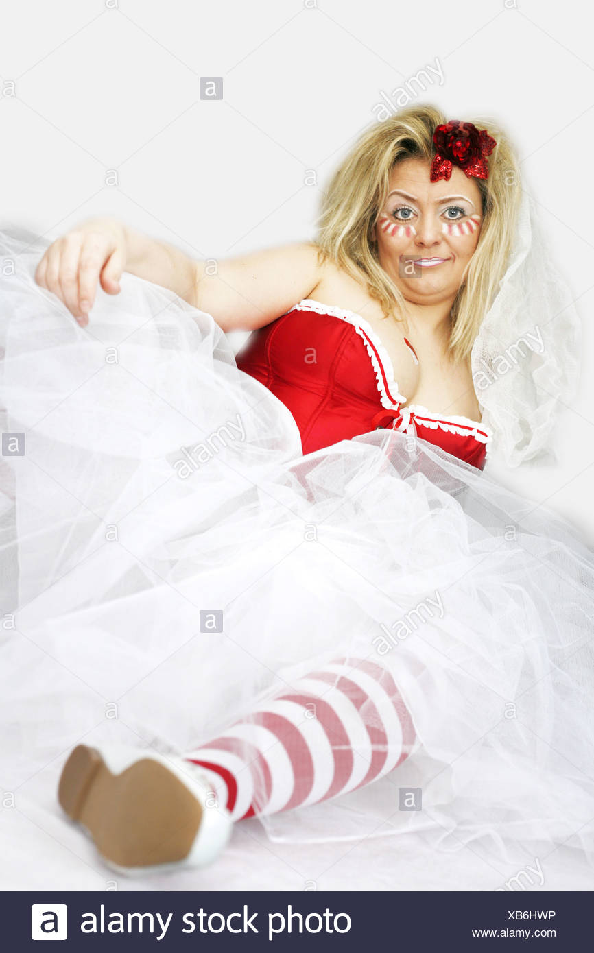 blond woman, prepared for carnival Stock Photo
