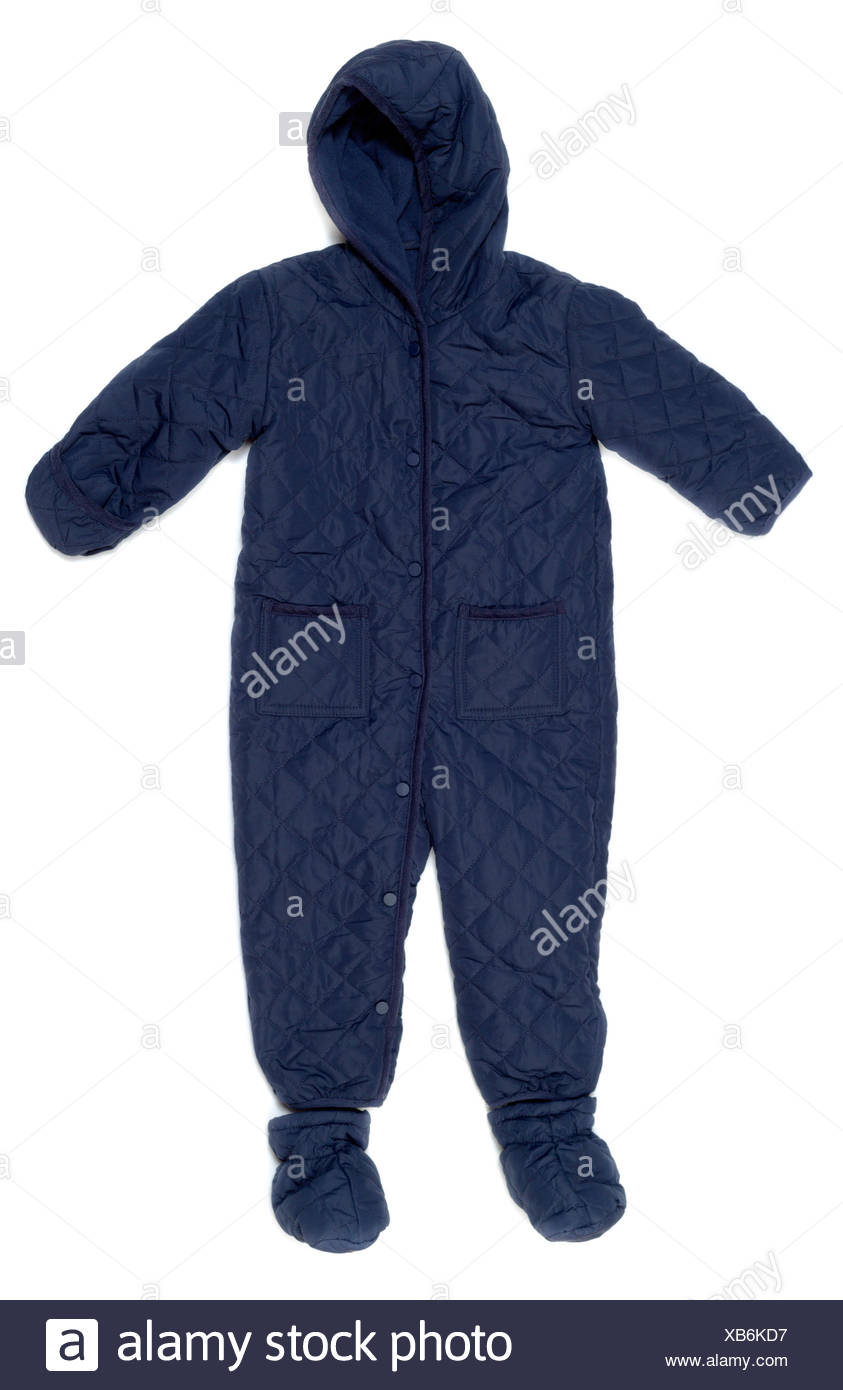 Warm rompers. - Stock Image