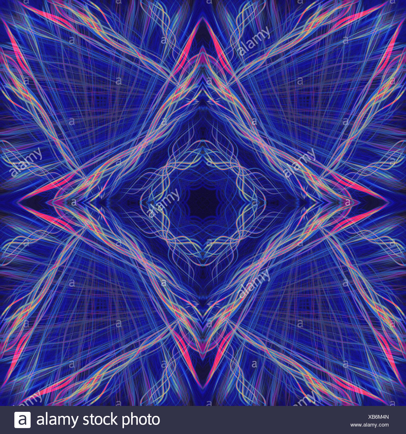 Blue light trails star pattern Stock Photo: 282274629 - Alamy