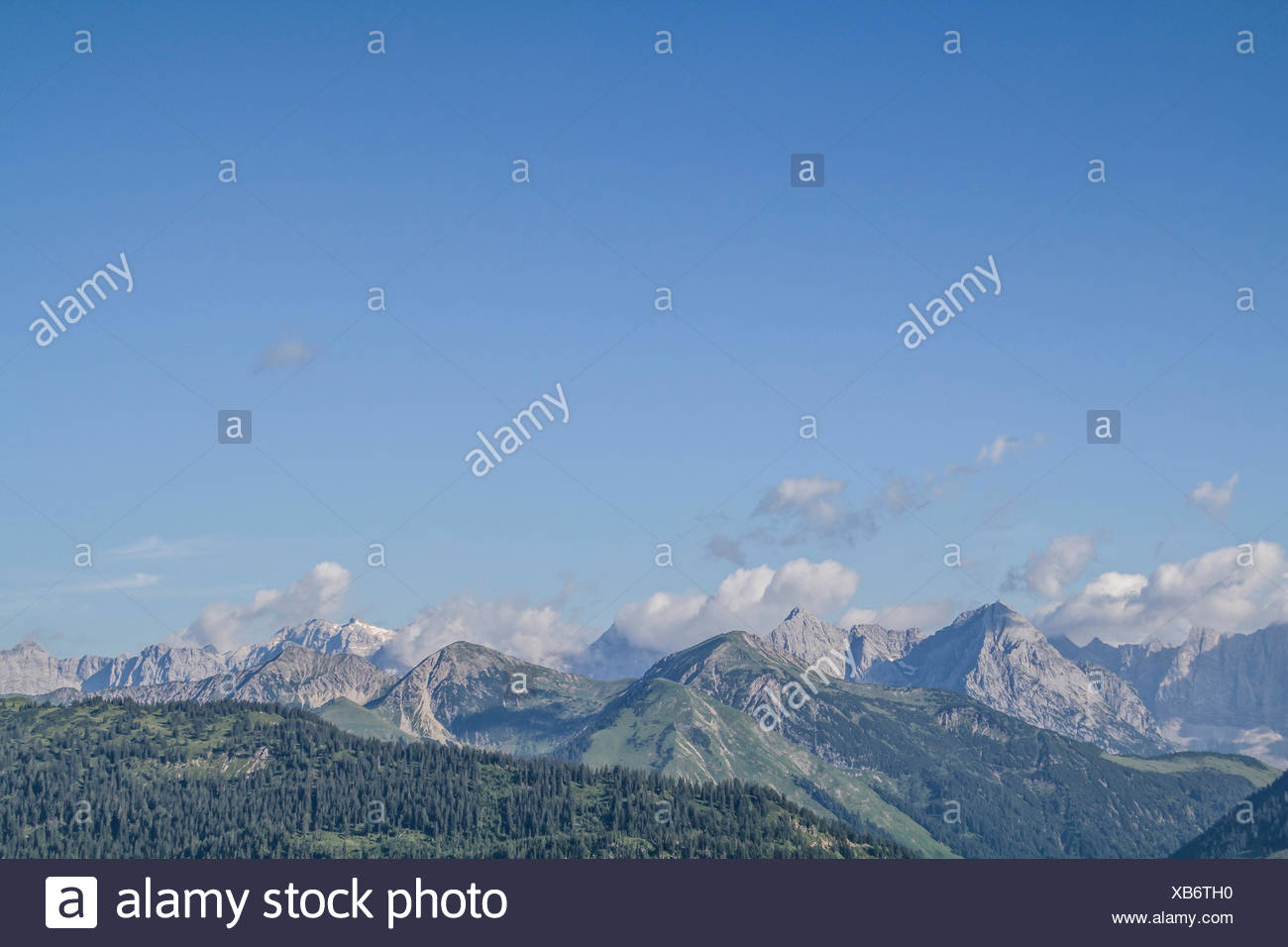 karwendel mountains in tirol - Stock Image